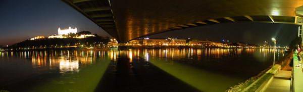צילום פנורמי מתחת לגשר החדש