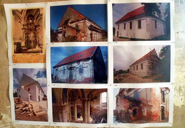 בית הכנסת בסטופבה, תמונות לפני ובעת עבודות השיפוץ