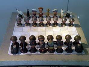 מוזיאון המרד הסלובקי, חיילים על לוח השחמט