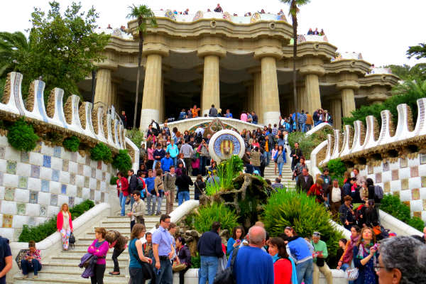 פארק גואל, גאודי, ברצלונה, ספרד
