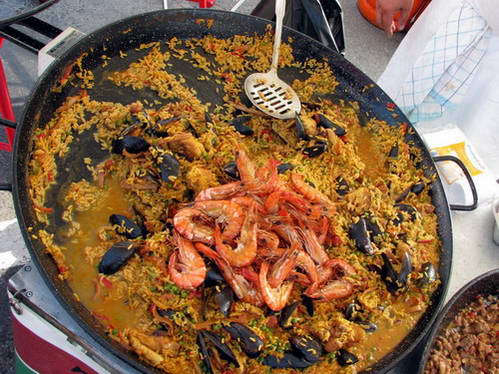 פאייה על מחבת ברזל כבדה, אוכל ספרדי