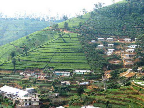 סרי לנקה, כפרים באזור ההר