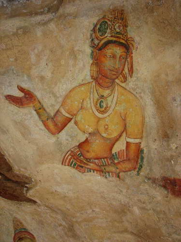 סרי לנקה, ארמון סיגירייה, ציורי קיר