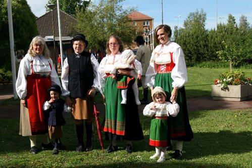 לבוש מסורתי, שבדיה