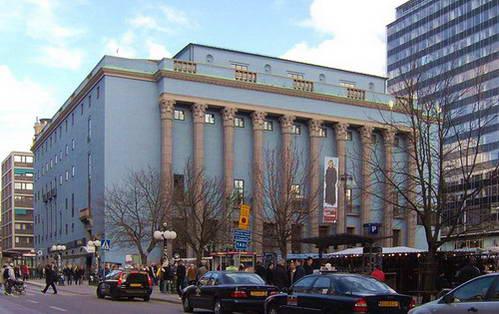 אולם הקונצרטים בשנת הקמתו 1926 וכיום