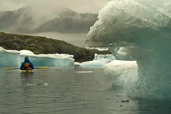 אלסקה, קייקים בקרחון קולומביה