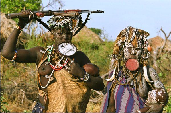 נשות שבט מורסי, אתיופיה