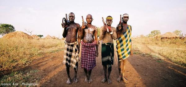 לוחמי שבט מורסי, אתיופיה