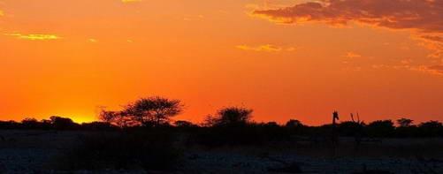 שקיעה על מדבריות נמיביה