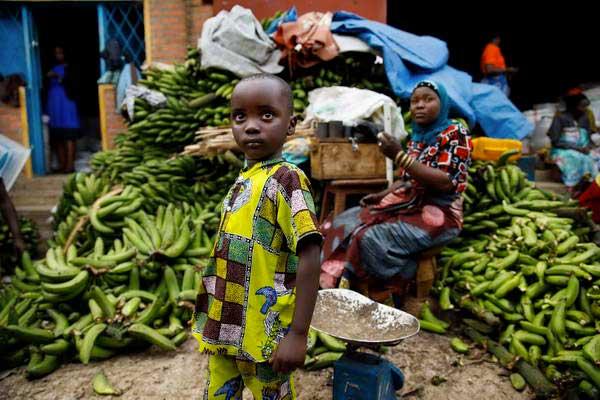 שוק מקומי ברואנדה