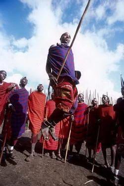 טנזניה, שבט המסאי, ריקוד הקפיצות