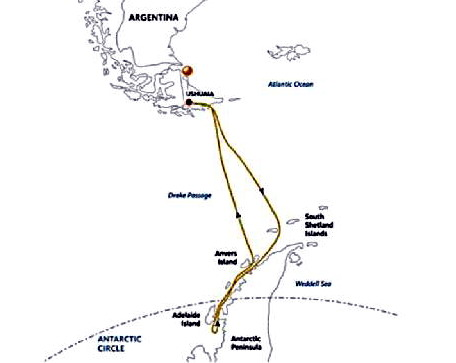 המסלול לאנטארקטיקה