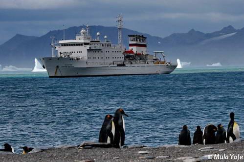 הפלגות לאנטארקטיקה, הספינה
