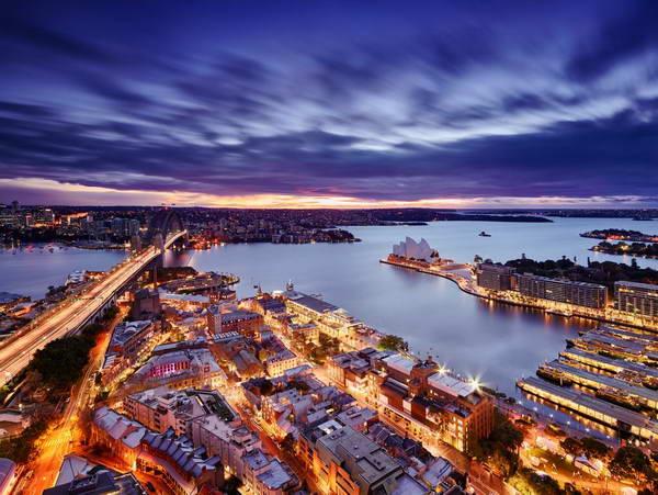 מלון המשקיף על נמל סידני ובית האופרה