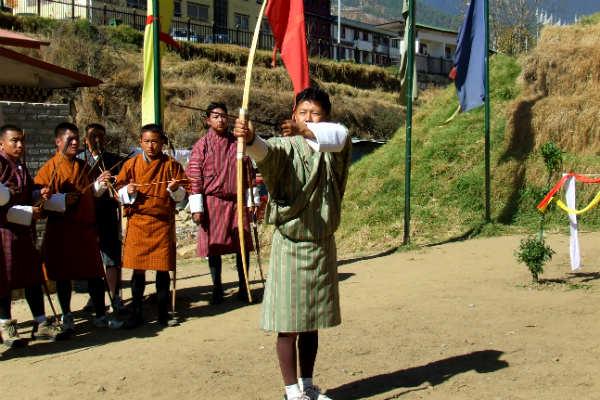 חץ וקשת, בהוטן