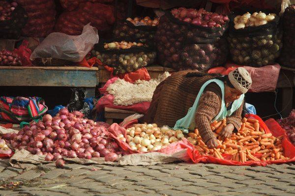 דוכני שווקים בלה פאס, בוליביה