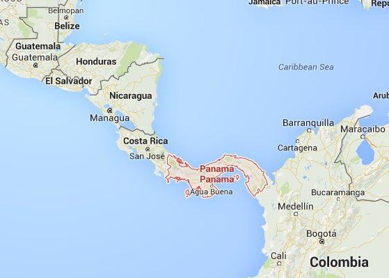 מפת  פנמה