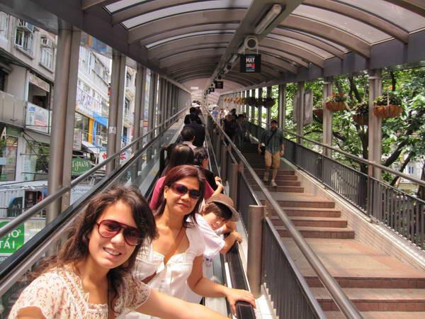 המדרגות הנעות במרכז הונג קונג