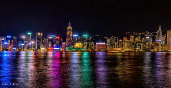 מופע הלייזר בנמל הונג קונג