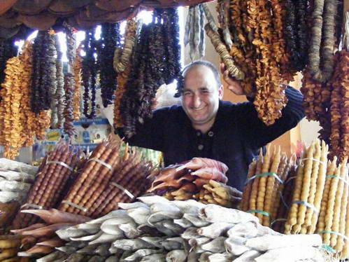 דוכן בשוק של באטומי, גאורגיה