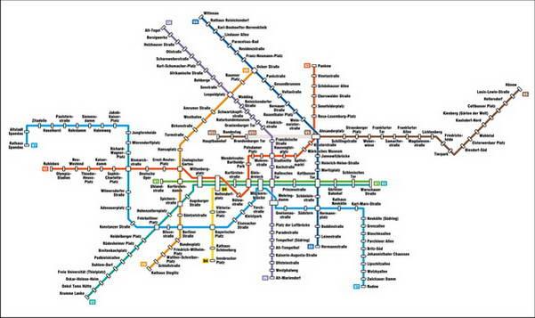 מפת רכבת תחתית ברלין