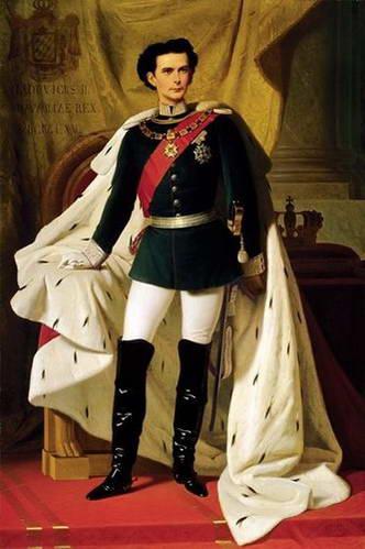 לודוויג השני בטקס הכתרתו למלך בוואריה