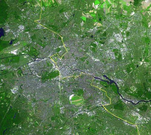 חומת ברלין, מפה
