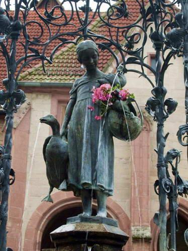 נערת האווזים בעיר גטינגן, גרמניה
