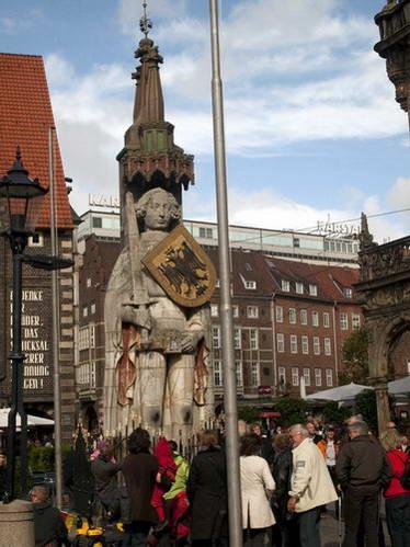פסל רולנד בעיר ברמן, גרמניה