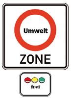 שלט הגבלת כניסה לרכבים מזהמים