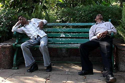 הודים המסוגלים לישון בכל מקום ובכל תנוחה