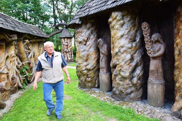 פארק גילופי עץ, דרוסקונינקי, ליטא