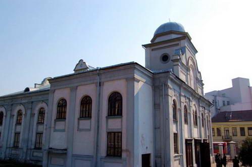 מגן דוד על גג בית הכנסת הגדול של קובנה