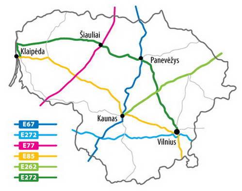 כבישים ראשיים בליטא