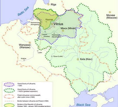 הדוכסות הגדולה של ליטא, מהים הבלטי לים השחור
