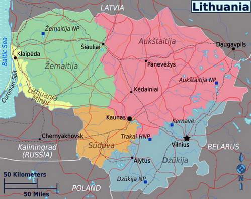 חלוקה אתנוגרפית של ליטא