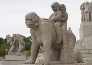 טיול לנורבגיה, אוסלו,  פארק הפסלים