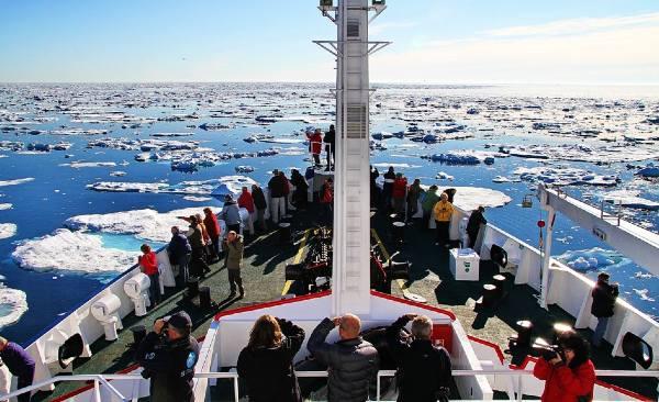 הפלגה לשפיצברגן בין גושי קרח הצפים