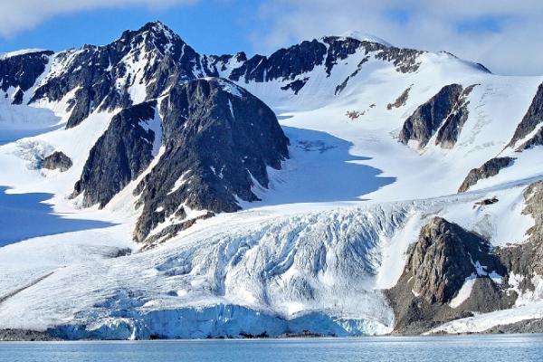 קרחונים מכסים כמעט את כל שטח הארכיפלג