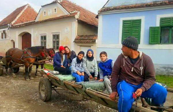 עגלה רתומה לסוס, רומניה
