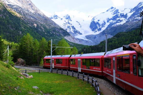 רכבת ברנינה אקספרס, מזרח שוויץ