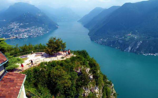 העיר לוגאנו ואגם לוגאנו, צפון איטליה