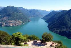 תצפית על אגם לוגאנו ממונטה סן סלבטורה