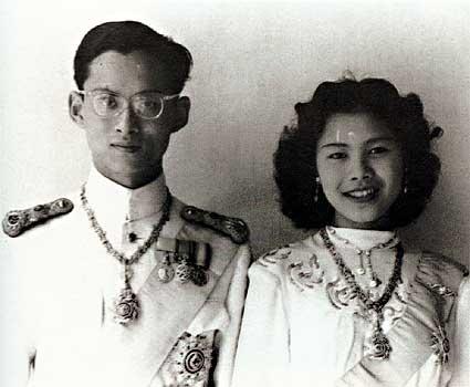 מלך תאילנד ראמה התשיעי ואשתו