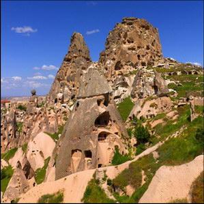המצודה של אוצ'היסאר, קפדוקיה, טורקיה