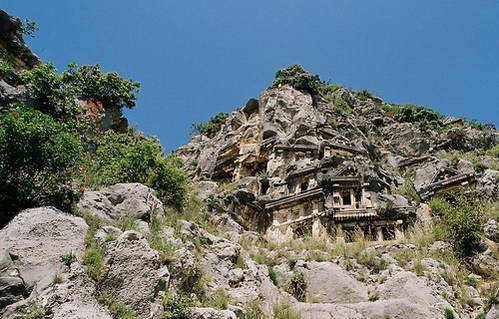 קברים ליקיים במיירה, טורקיה