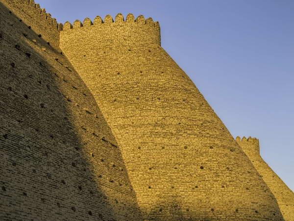 הקיר החיצוני של המצודה (ארק) של בוכרה